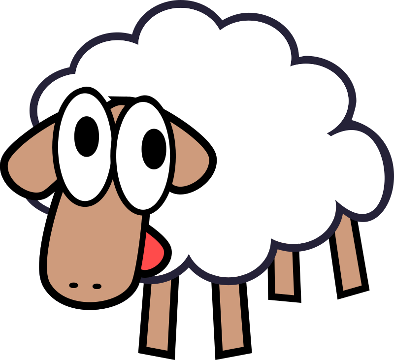 pin Sheep clipart transparent background #6 - PNG Sheep Cartoon