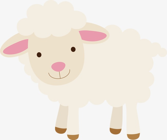 Sheep vector, Animal, Cartoon, Hand Painted Free PNG and Vector - PNG Sheep Cartoon