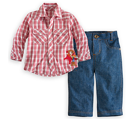 Woody Woven Shirt and Pants Set for Baby - PNG Shirt And Pants