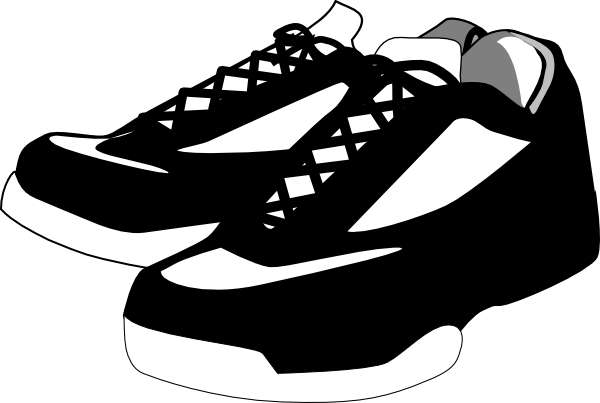 Black And White Shoes Tennis Clip Art at Clker pluspng.com - vector clip art  online, royalty free u0026 public domain - PNG Shoes Black And White