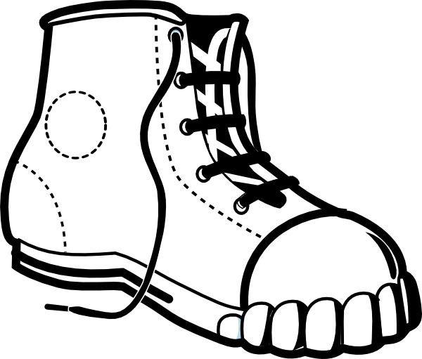 Footwear Cliparts #111130 - PNG Shoes Black And White