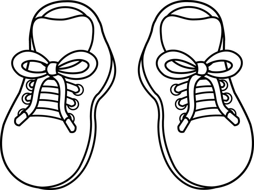 Shoe clipart - PNG Shoes Black And White