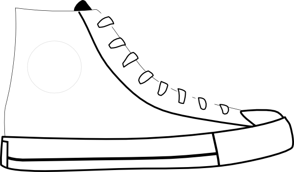 Tennis shoe clipart black and white 2 - PNG Shoes Black And White