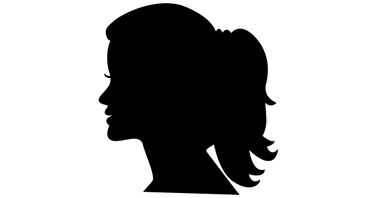 PNG Silhouette Woman Head - 87327
