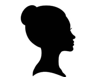 PNG Silhouette Woman Head - 87340