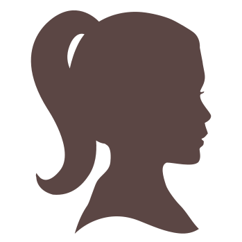PNG Silhouette Woman Head - 87336