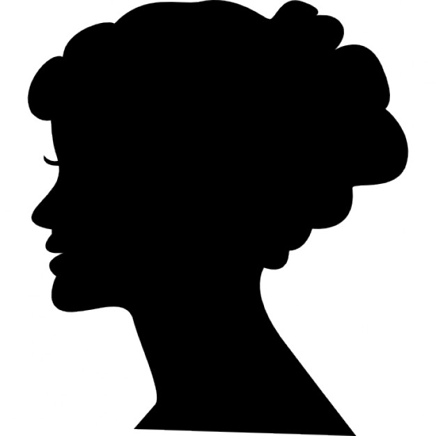 Female head silhouette Free Icon - PNG Silhouette Woman Head