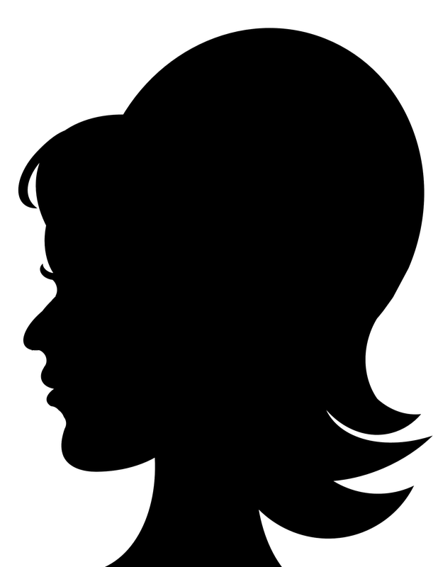 PNG Silhouette Woman Head - 87328