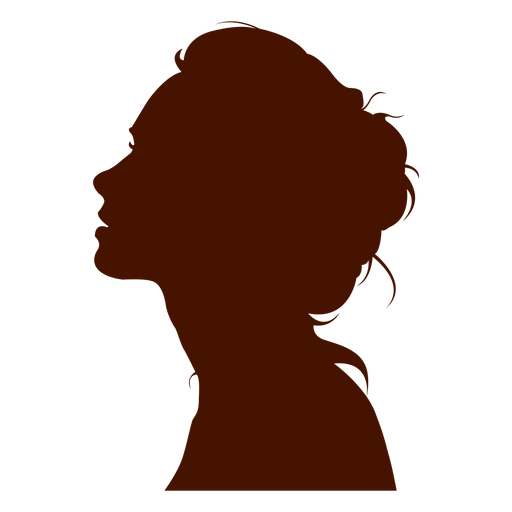 PNG Silhouette Woman Head - 87339