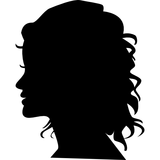 Woman silhouette head side view free icon - PNG Silhouette Woman Head