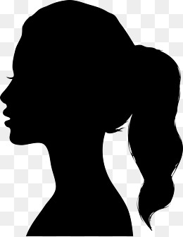 PNG Silhouette Woman Head - 87325