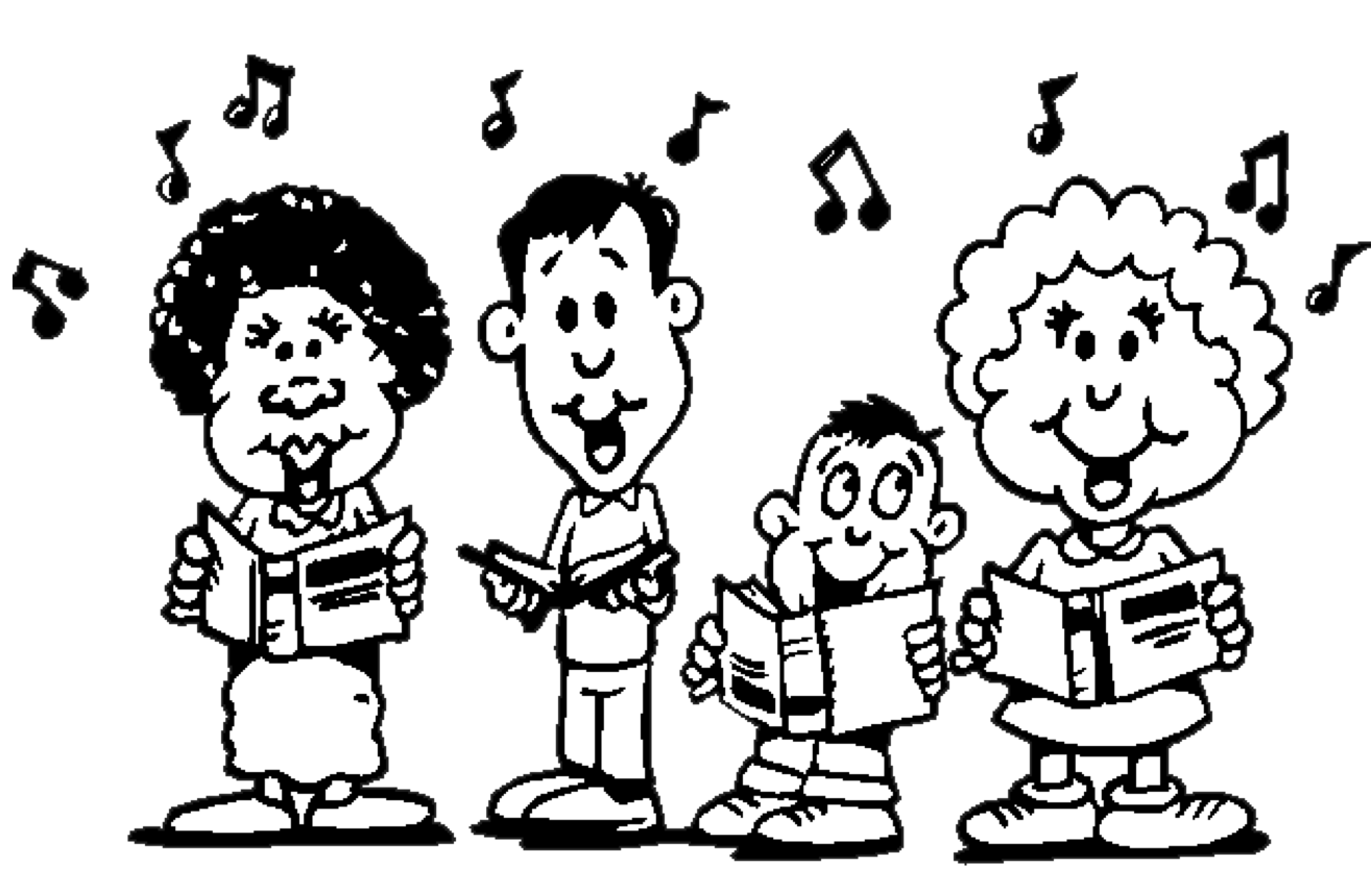 Black Sing Cliparts #2783213 - PNG Singing Black And White