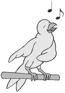 Black Sing Cliparts #2783226 - PNG Singing Black And White
