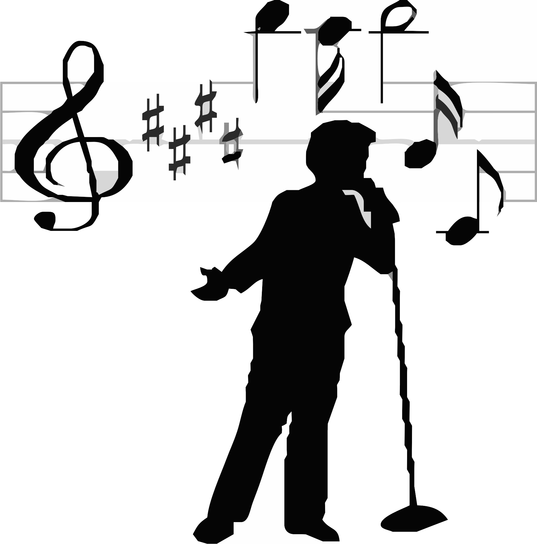 File:Singer icon transparent.png - PNG Singing Black And White