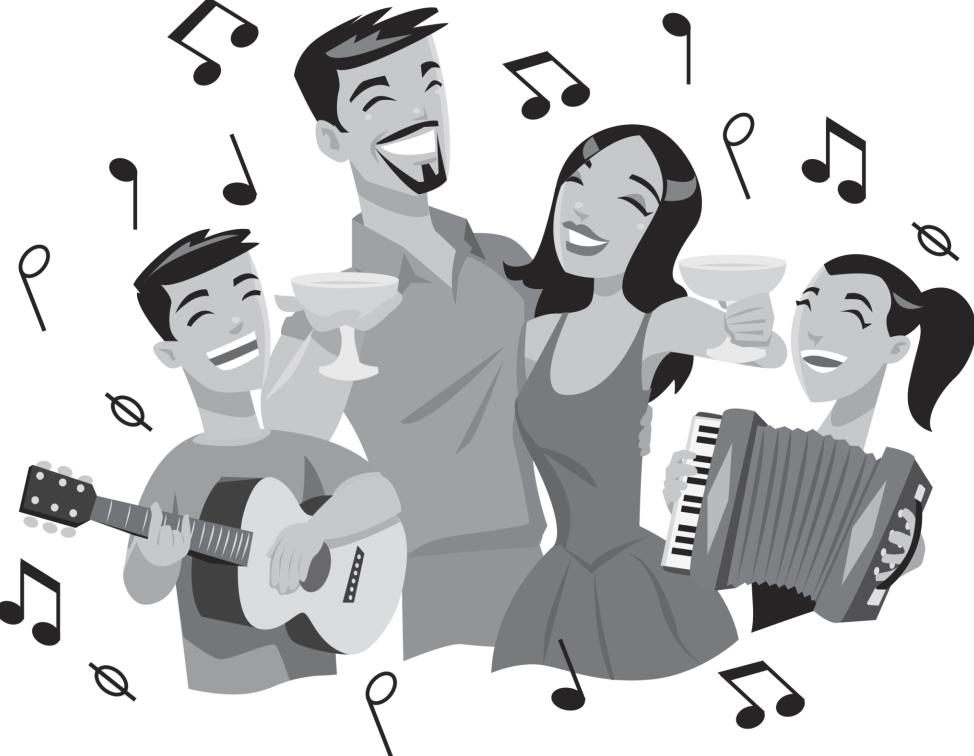 sing - PNG Singing Black And White