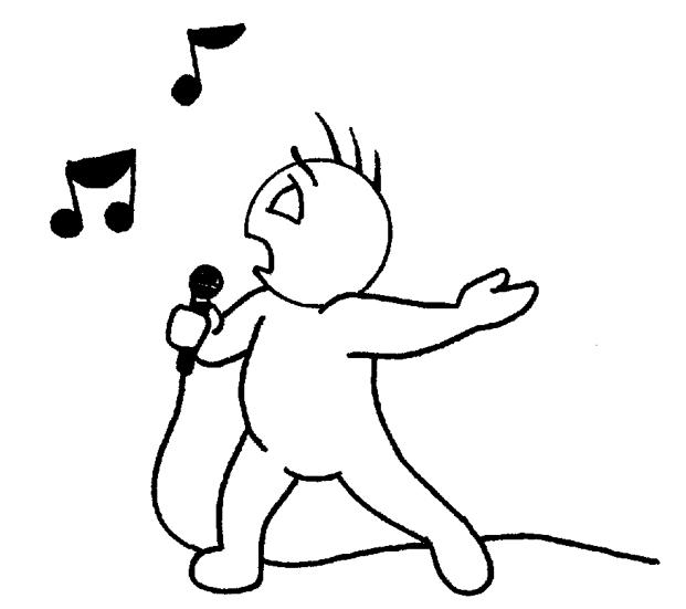 Singer - PNG Singing Black And White