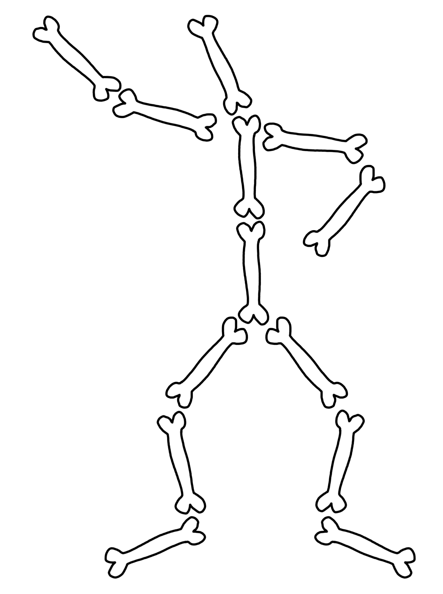 png skeleton bones transparent skeleton bones png images