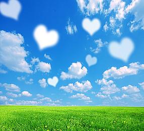 Blue sky background Love - PNG Sky Background