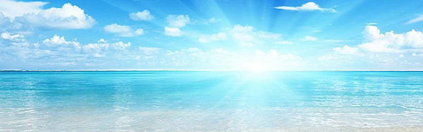 Sea, blue sky background, Blue Sky, Baiyun, Sea, Background image - PNG Sky Background