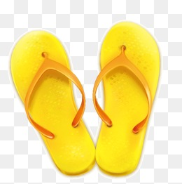 Slippers Vector, Flip Flop, Vector, Hand Painted PNG and Vector - PNG Slippers
