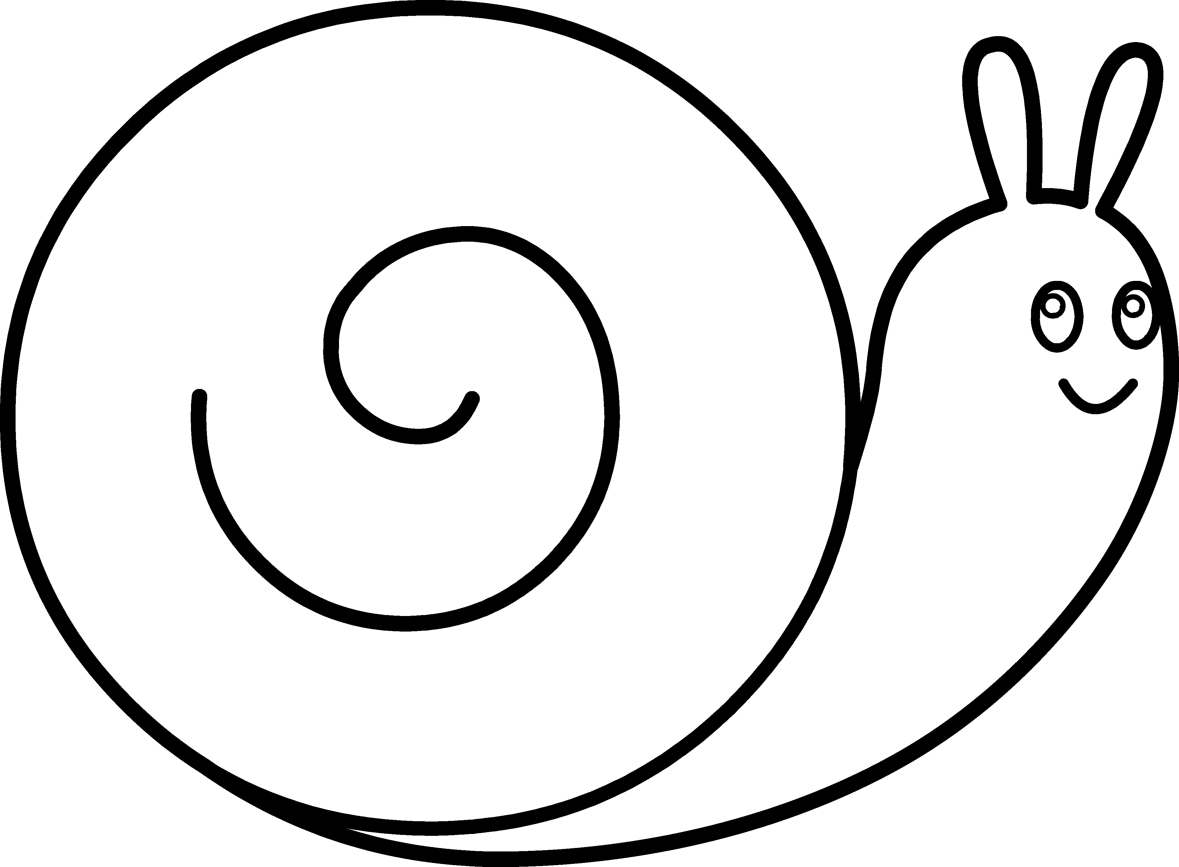 pin Snail clipart outline #5 - PNG Snail Black And White