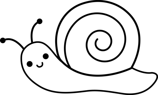 Snail clipart 5 - PNG Snail Black And White