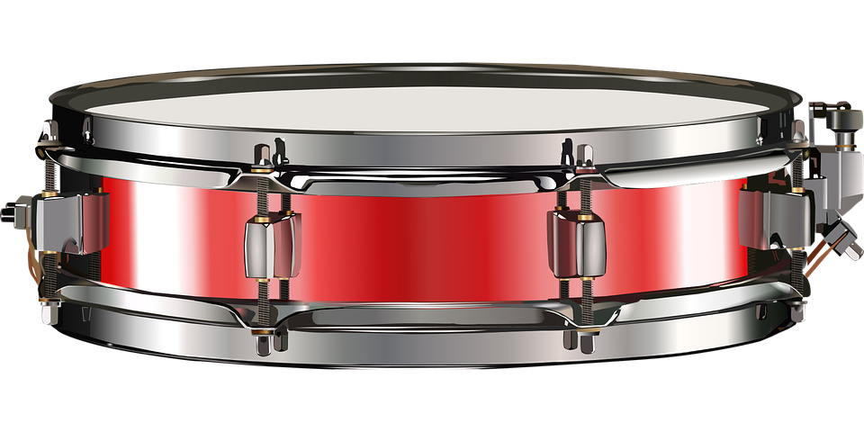 Small Drum, Snare Drum, Red, Drum, Drums - PNG Snare Drum
