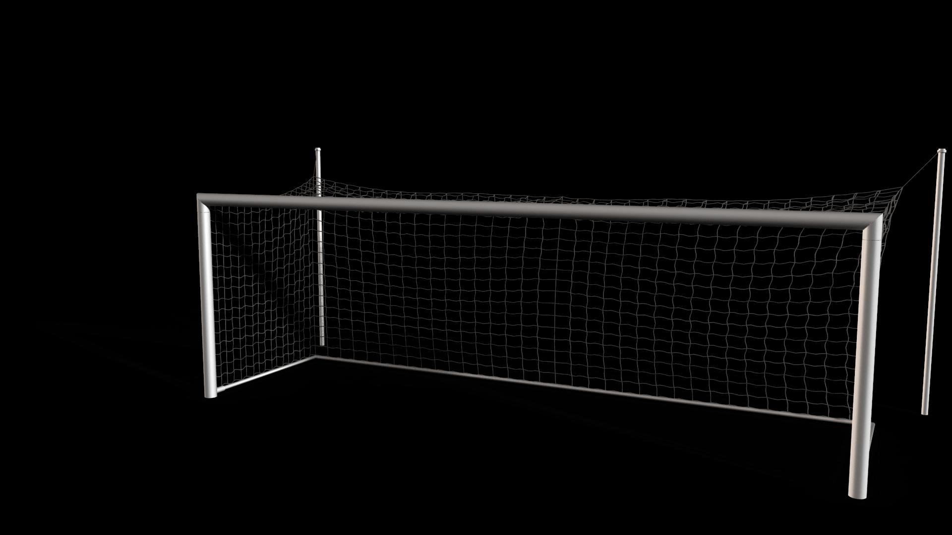 Fixed Aluminium Soccer Goal Full-size w/ Sleeves - PNG Soccer Goal