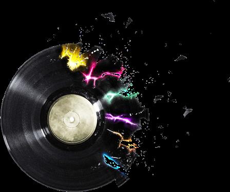 PNG - Musicais - (Teclado, CD, caixa som, disco, fita cassete, fone ouvido,  guitarra, microfone, nota musical, vitrola) - PNG Som