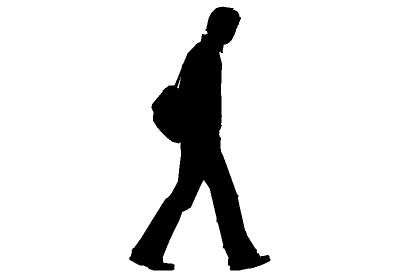 man walking silhouette clipar