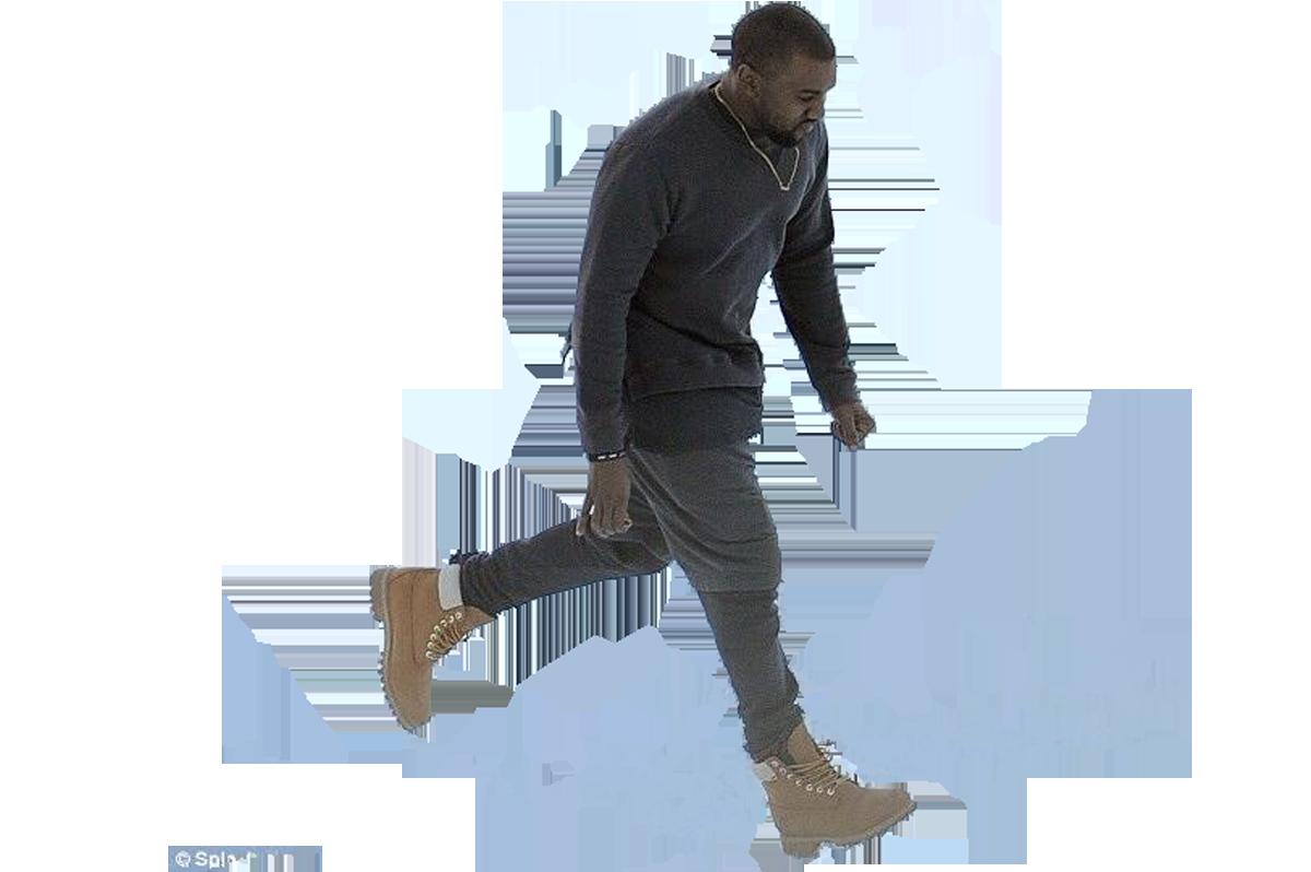 someone photoshop him walking