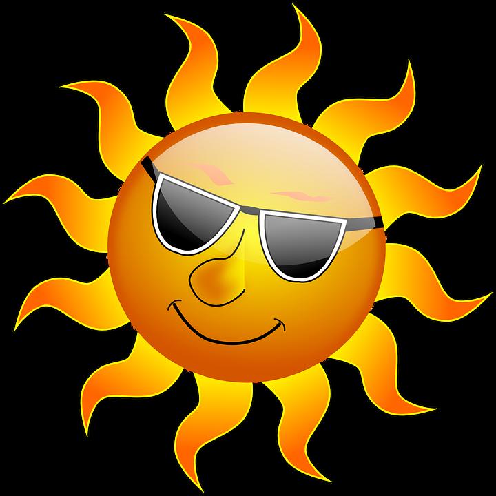 Sonne, Cool, Sonnenschein, Glänzend, Lächeln, Sommer - PNG Sonne
