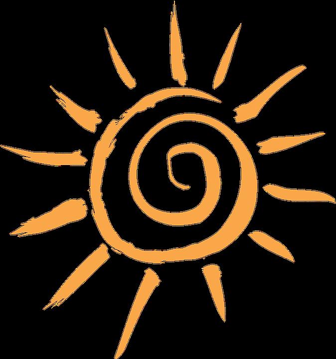 Sonne, Orange, Motiv, Strahlen, Sonnig, Sonnenschein - PNG Sonne