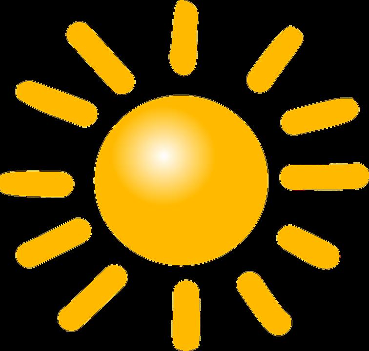 Sonne, Wetter, Sonnig, Strahlen, Sonnenschein, Symbol - PNG Sonne