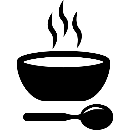 Soup hot bowl with spoon free icon - PNG Soup Bowl