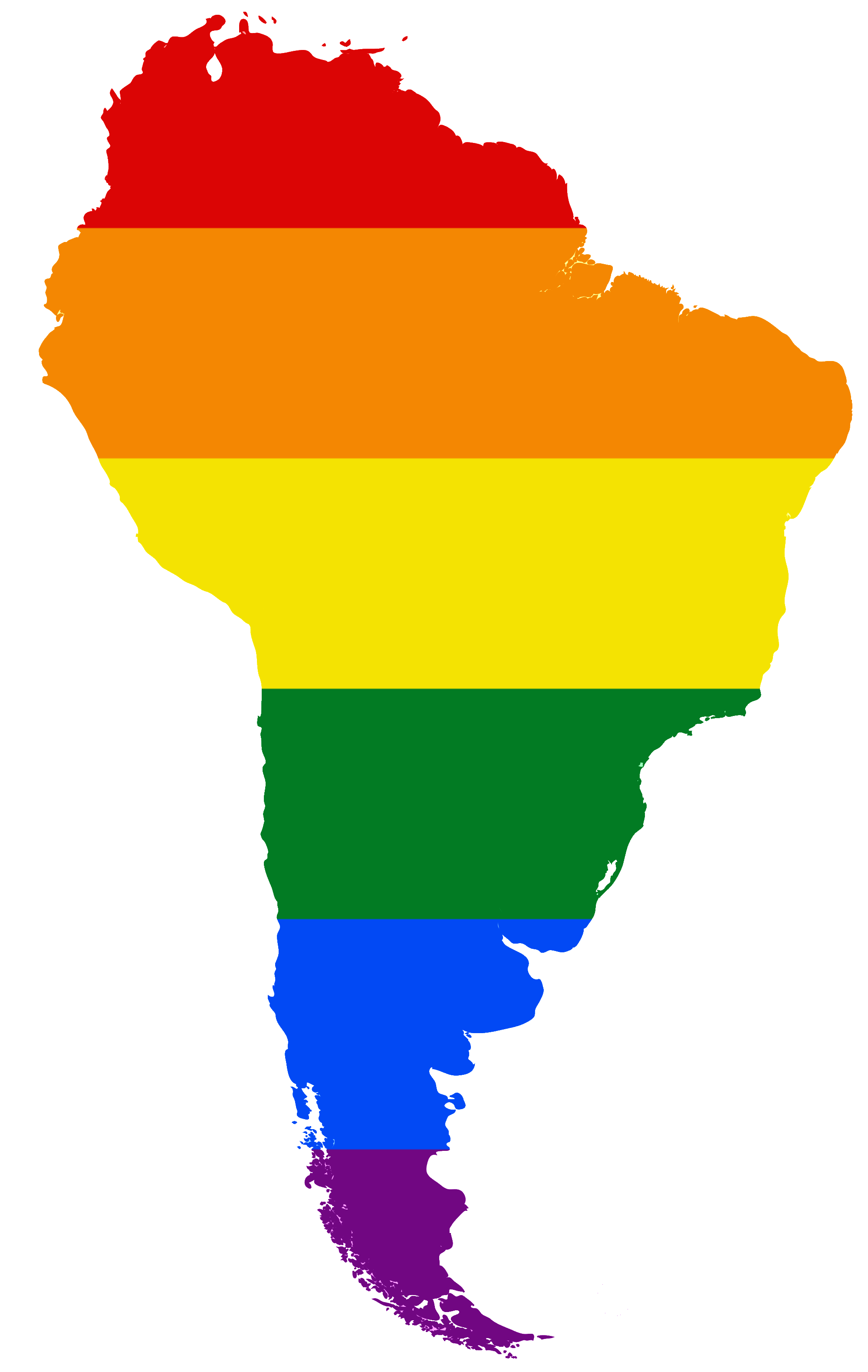 File:LGBT Flag map of South America.png - PNG South America