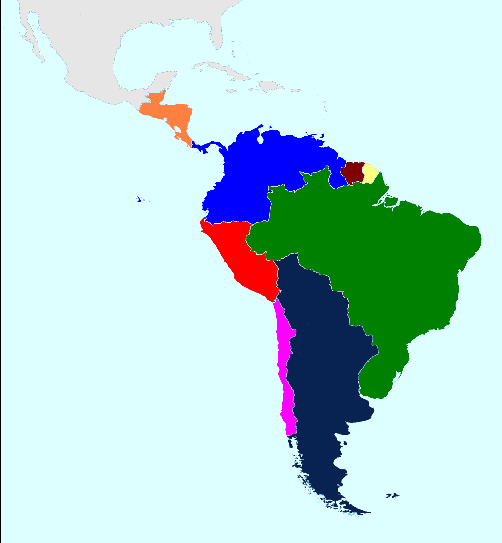 Image - Unified map of South America.png | Alternative History | FANDOM  powered by Wikia - PNG South America