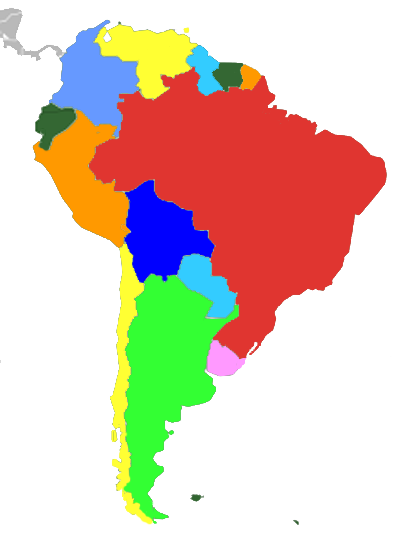 South America Region - PNG South America