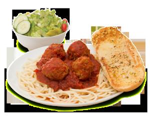 Spaghetti Dinner with meatballs - PNG Spaghetti Dinner