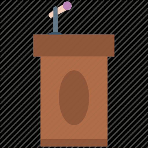PNG Speaker At Podium - 86459