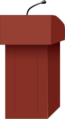 PNG Speaker At Podium - 86453