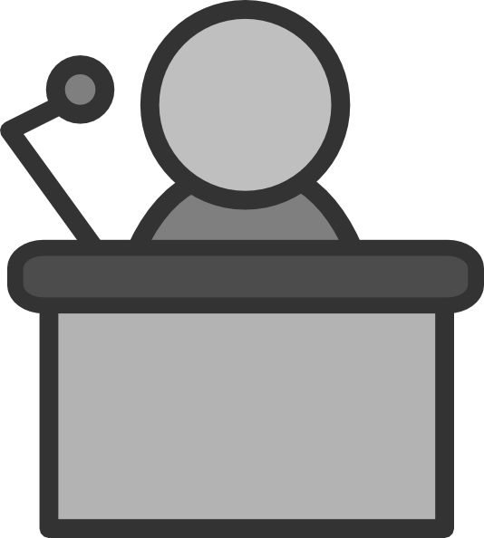 PNG Speaker At Podium - 86462