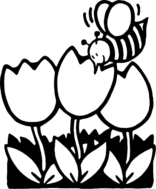 Cliparts Black #57735 - PNG Spring Black And White