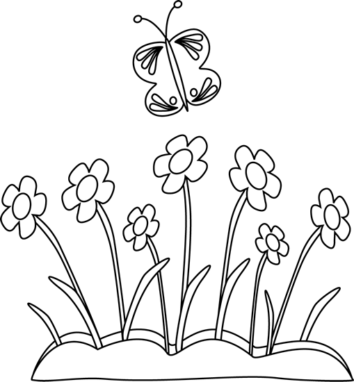 Spring Clipart Black And White - PNG Spring Black And White