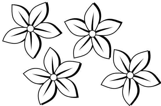 Spring Cliparts BW #2916953 - PNG Spring Black And White