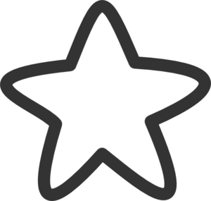 Black And White Star Clip Art - PNG Star Black And White