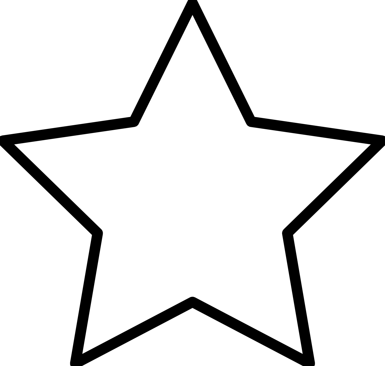 Black And White Star Clip Art - Clipart library - PNG Star Black And White