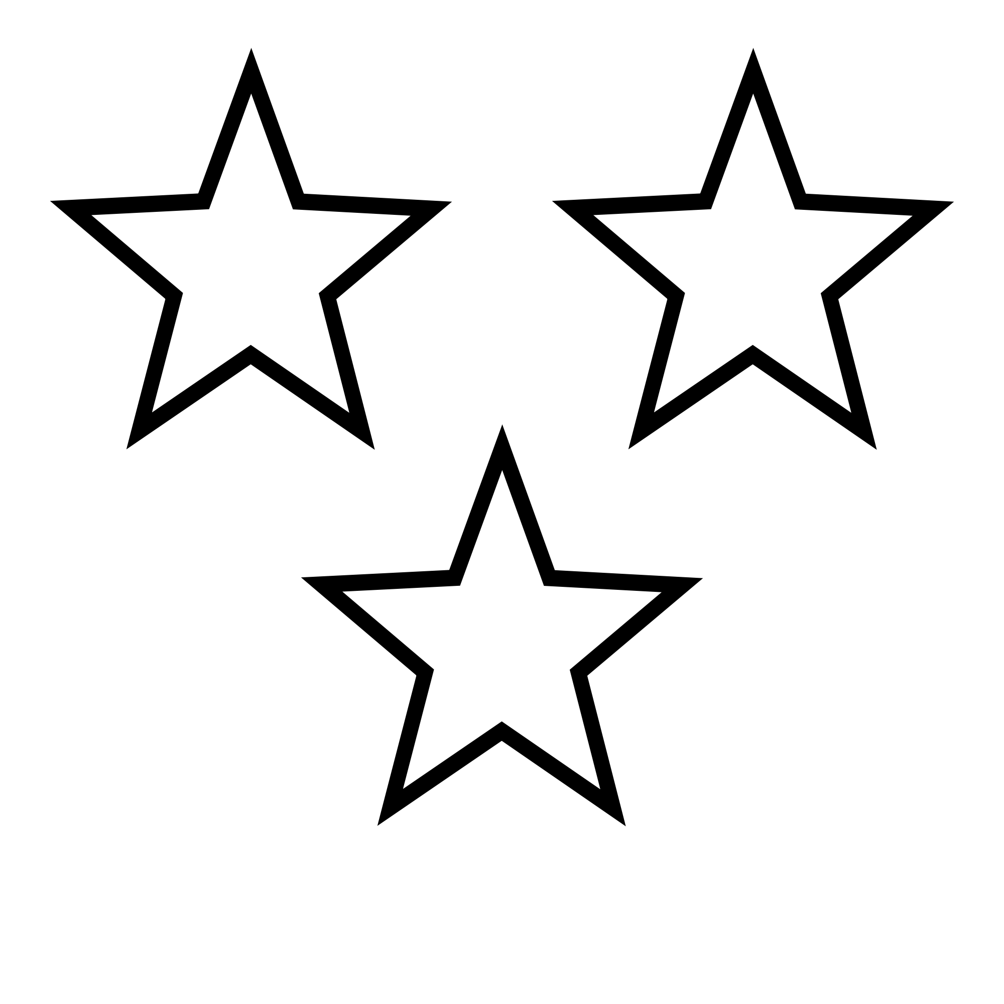 PNG Star Black And White - 60948