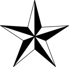 PNG Star Black And White - 60955