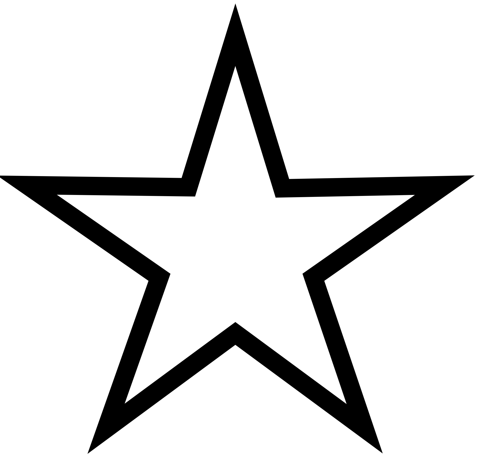 PNG Star Black And White - 60944